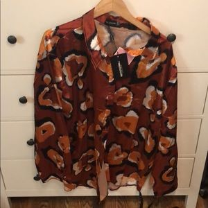 Pretty Little Thing Satin Button Up